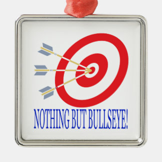 Nothing But Bullseye Square Metal Christmas Ornament