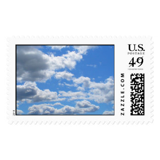 nothing but clouds postage stamps