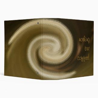 nothing but coffee! vinyl binder