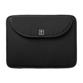 Nothing But Color - Everything Black - Only Black MacBook Pro Sleeves