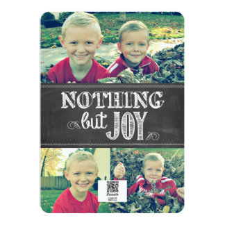 Nothing But Joy Card   4 photos   5x7   Flat