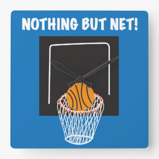 """Nothing But Net"" Basketball Clock"