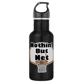 nothing but net basketball design water bottle