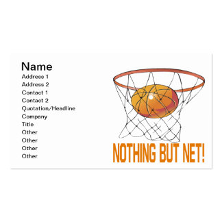 Nothing But Net Business Card