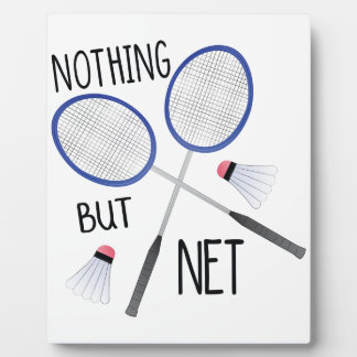 Nothing But Net Plaque