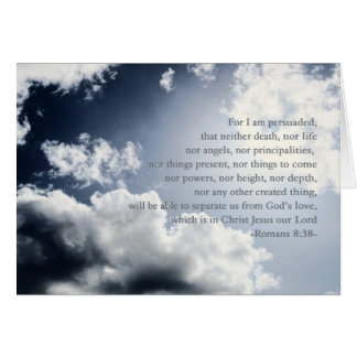 Nothing can separate us from God's love, hospice, Greeting Card