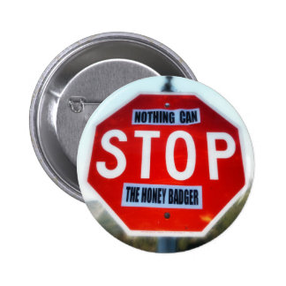 Nothing Can STOP th Honey Badger Pinback Button