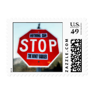 Nothing Can STOP th Honey Badger Postage Stamps