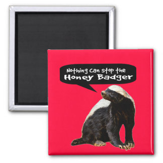 Nothing Can Stop the Honey Badger! (He speaks) Magnet