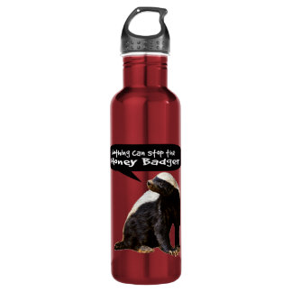 Nothing Can Stop the Honey Badger! (He speaks) 24oz Water Bottle
