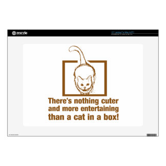"""Nothing Cuter And Entertaining Than A Cat In A Box 15"""" Laptop Skin"""