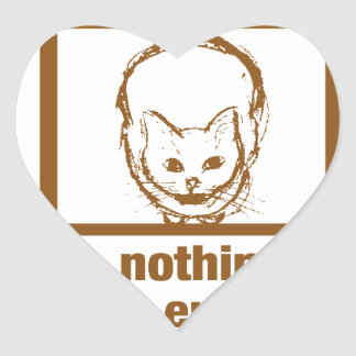 Nothing Cuter And Entertaining Than A Cat In A Box Heart Sticker