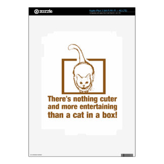 Nothing Cuter And Entertaining Than A Cat In A Box iPad 3 Skins