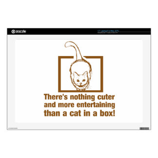 Nothing Cuter And Entertaining Than A Cat In A Box Laptop Decals