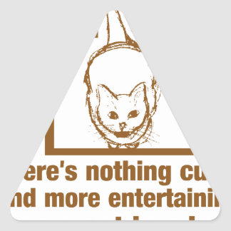 Nothing Cuter And Entertaining Than A Cat In A Box Triangle Sticker