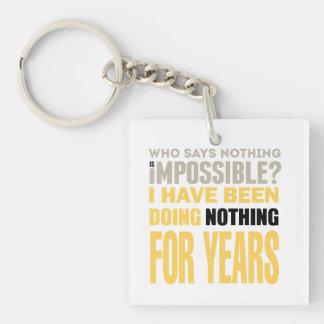 Nothing Doer Keychain