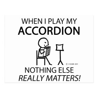 Nothing Else Matters Accordion Postcard