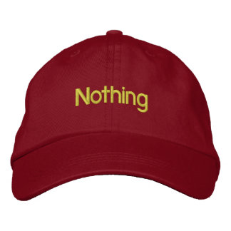 Nothing Embroidered Hat