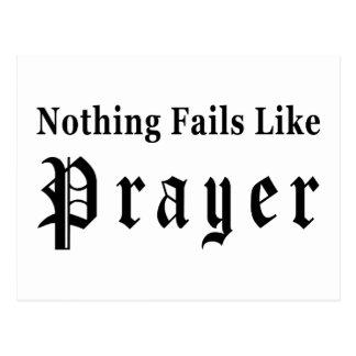 Nothing Fails Like Prayer Postcard