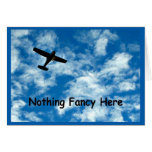 Nothing Fancy Just A Plane Thank You Card