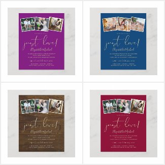 Nothing Fancy Just Love Wedding Reception Invites