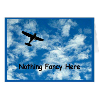 Nothing Fancy Plane Get Well Card