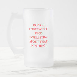 NOTHING FROSTED GLASS BEER MUG