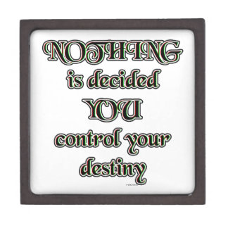 NOTHING is decided. YOU control your destiny. Keepsake Box