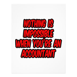 Nothing Is Impossible...Accountant Flyer