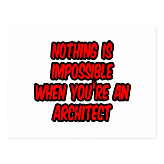 Nothing Is Impossible Architect Postcard