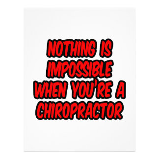 Nothing Is Impossible...Chiropractor Flyer Design