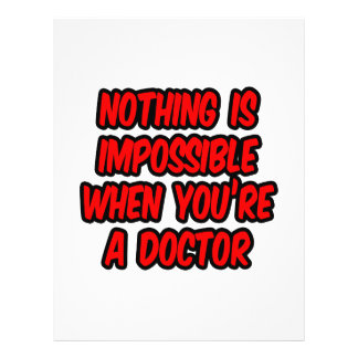 Nothing Is Impossible Doctor Custom Flyer