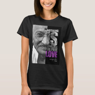 Nothing Is Impossible Ghandi Dark T-Shirt
