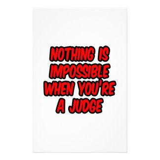 Nothing Is Impossible...Judge Stationery