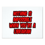 Nothing Is Impossible...Librarian Custom Invitation