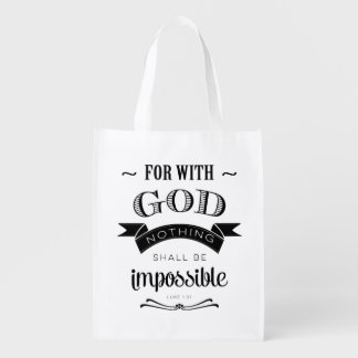 Nothing is Impossible Market Totes