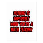 Nothing Is Impossible...Math Teacher Postcard