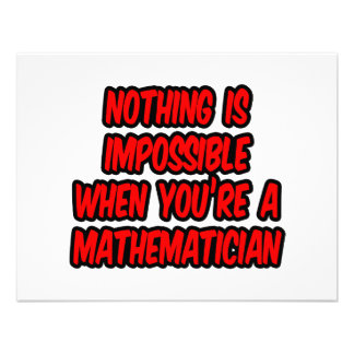 Nothing Is Impossible...Mathematician Invitations