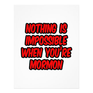 Nothing Is Impossible Mormon Personalized Flyer