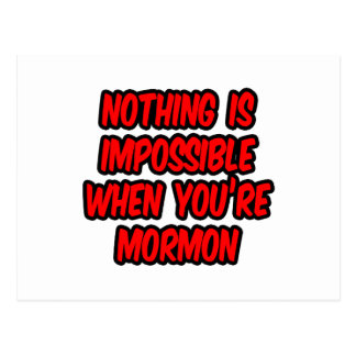 Nothing Is Impossible...Mormon Post Card