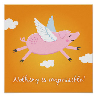 Nothing is impossible motivational poster