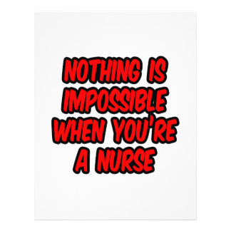 Nothing Is Impossible Nurse Flyer