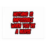 Nothing Is Impossible...Nurse Postcard