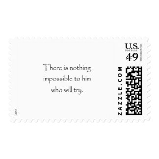 Nothing Is Impossible Postage
