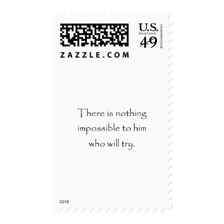 Nothing Is Impossible Postage Stamp