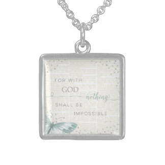 Nothing Is Impossible Square Pendant Necklace