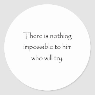 Nothing Is Impossible Stickers