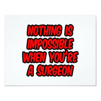 Nothing Is Impossible...Surgeon Card