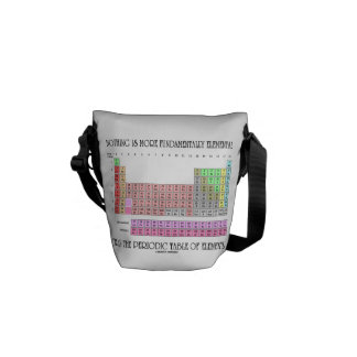 Nothing Is More Fundamentally Elemental Periodic T Messenger Bag