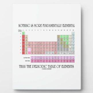 Nothing Is More Fundamentally Elemental Periodic T Display Plaque
